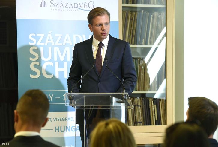 Barthel-Rúzsa Zsolt a Századvég Alapítvány elnöke a Századvég Alapítvány nyári egyetemének megnyitóján 2018. július 9-én.