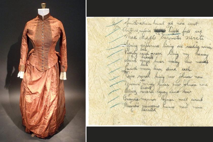 Rejtélyes kódot találtak a régi selyemruhába varrva: azóta sem sikerült megfejteni, mit jelent