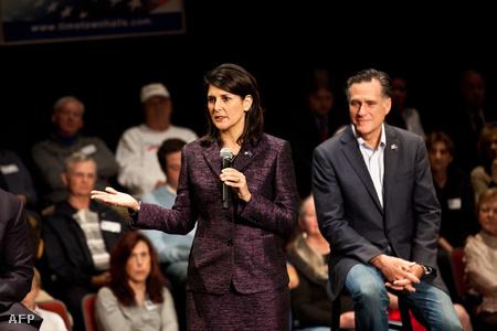 Nikki Haley és Mitt Romney