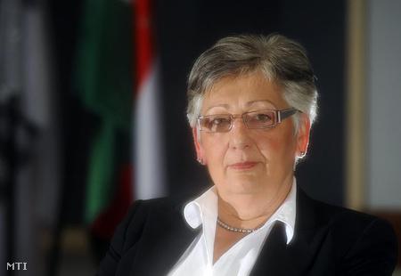 Németh Lászlóné, a Magyar Fejlesztési Bank (MFB) vezérigazgató-helyettese irodájában, 2010. június 25-én.