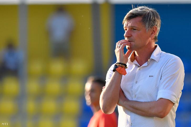 Horváth Ferenc, a Balmazújváros vezetőedzője 2018. május 12-én