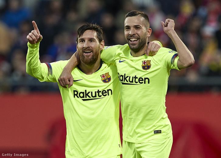 Lionel Messi és Jordi Alba