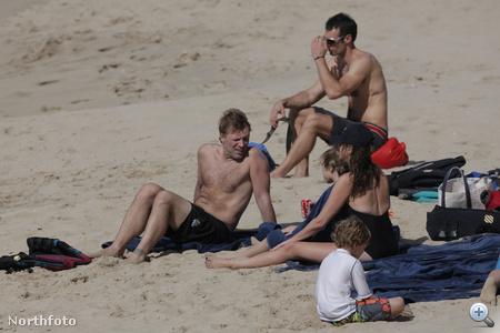 Jon Bon Jovi és családja Saint Barthélemy szigetének strandján