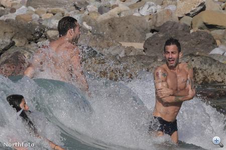 Marc Jacobs és exe, Lorenzo Martone a vízben