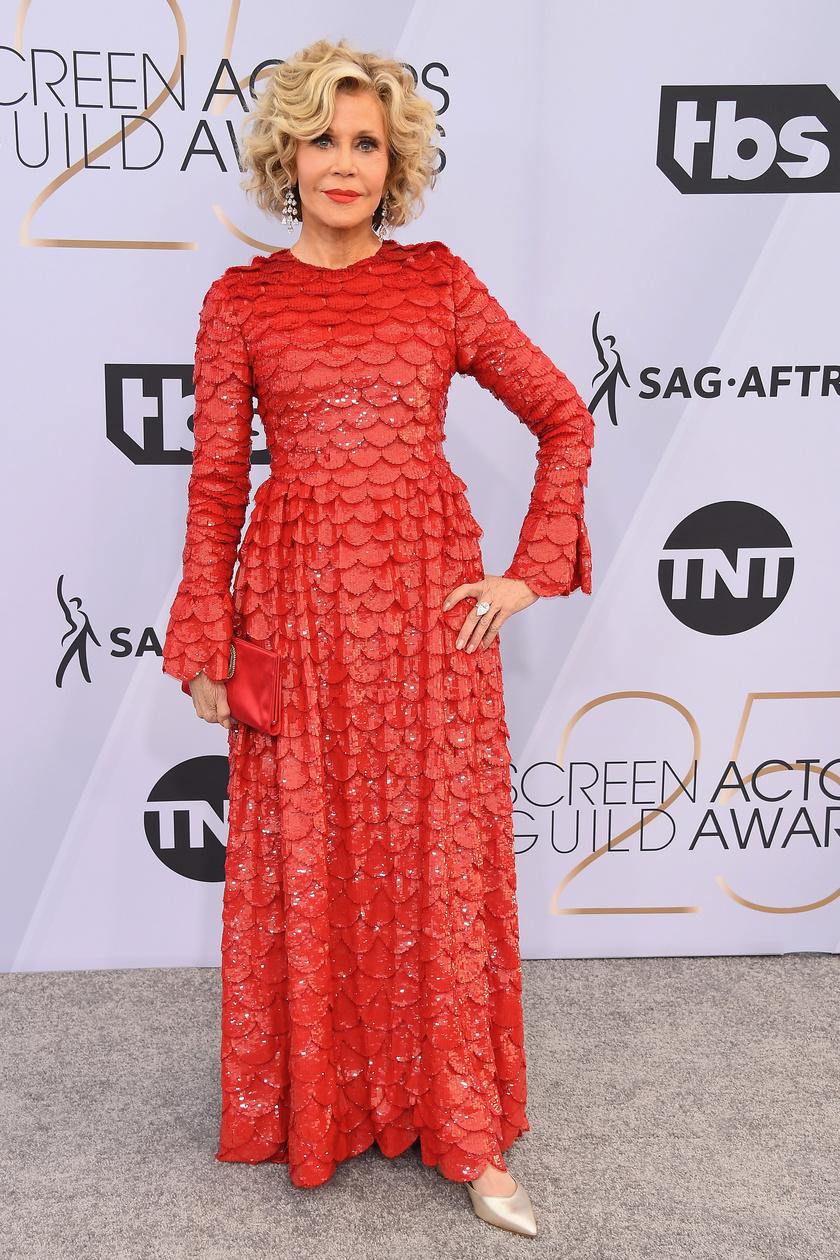 Jane Fonda még mindig fantasztikusan néz ki - jó pár évtizedet letagadhatna a korából.