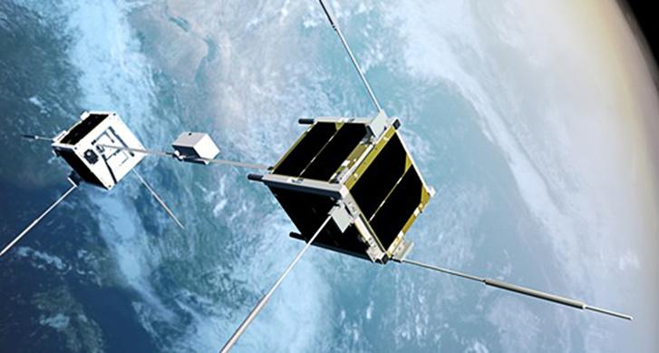 A tavaly felbocsátott, összekötött japán kockaműholdak koncepció rajza