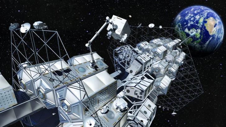 2050-re tervezett űrlift elképzelt kinézete