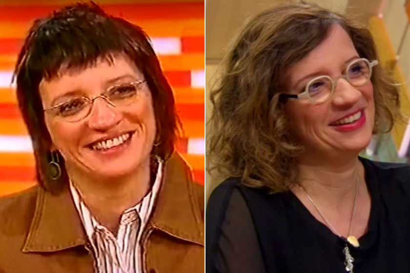 Balázsy Panna az RTL Klubban 2006-ban és 2019-ben.