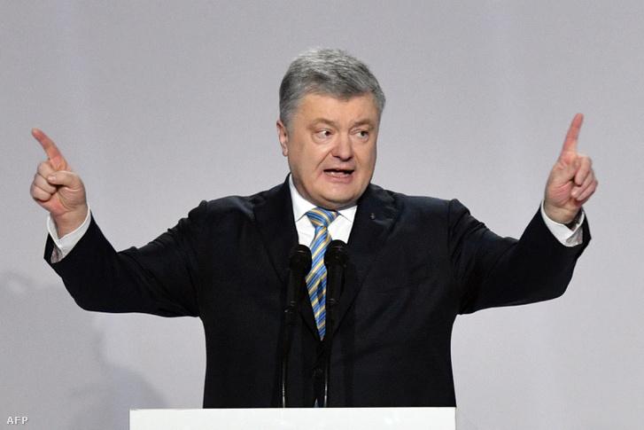 Petro Porosenko beszél Kijevben 2019. január 29-én