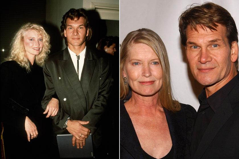 Patrick Swayze és Lisa Niemi a '80-as években, illetve 2004-ben.