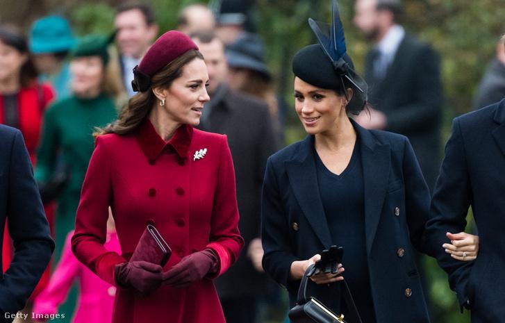 Katalin cambridge-i hercegnő és Meghan sussexi hercegnő