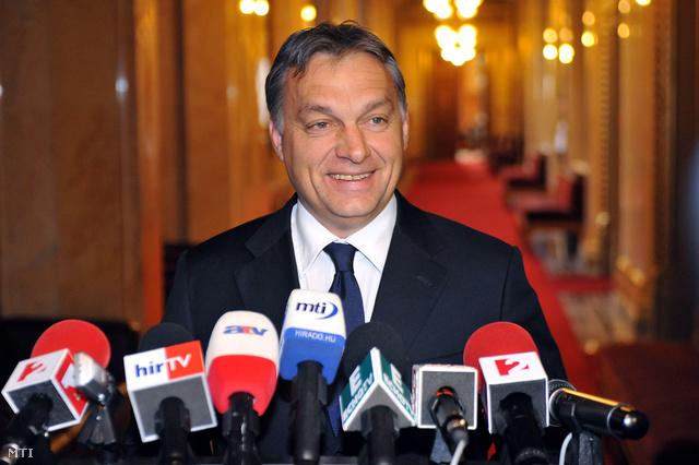 Orbán Viktor a tanácskozás után tartott sajtótájékoztatón