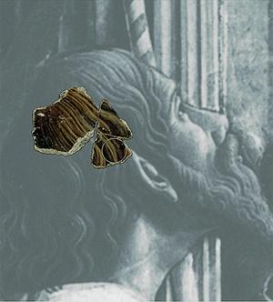 A reneszánsz freskó egy darabja
