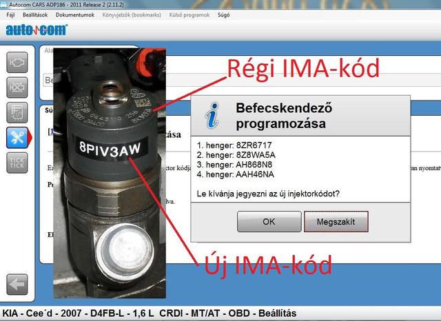 IMA kód programozása