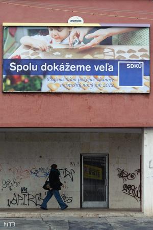 Az SDKÚ plakátja: Együtt sokra leszünk képesek