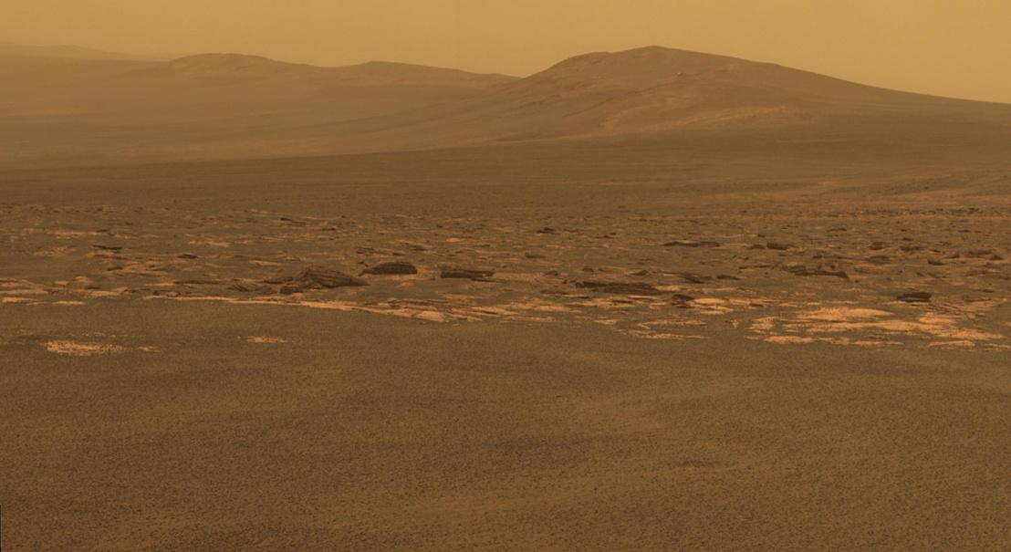 Az Opportunity által készített tájkép a Marsról