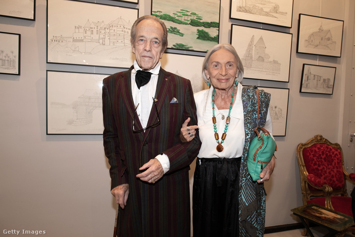 Orléans-i Henrik (Henri d'Orléans), Párizs grófja és felesége Micaela, Párizsban 2018. október 17-én