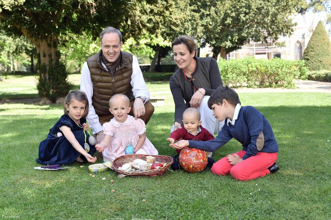 Orléans-i János, Vendôme hercege és családja 2017. április 16-án