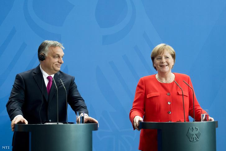 Orbán és Merkel egy korábbi találkozón 2018 júliusában