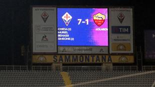 A Fiorentina megsemmisítette a Romát a kupában