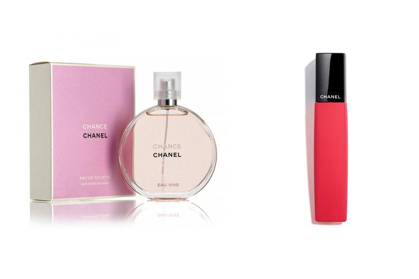 A Chanel Chance parfümje maga az intenzív nőiesség. Egzotikus jázminnal, rózsaesszenciával és pamutos illatot adó pézsmával varázsol el. A Rouge Allure Liquid Powder pedig matt, erőteljes színével teszi szexibbé az ajkakat. (35 480 Ft, 11 850 Ft)
