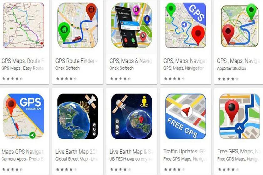 Pár darab a hamis navigációs alkalmazások közül.