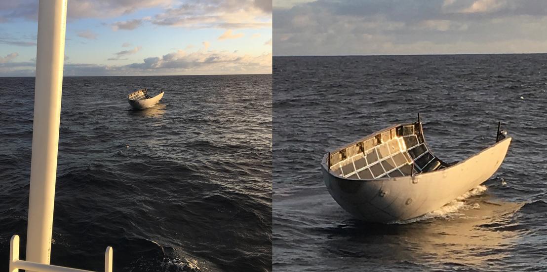 Egyben maradt kúpelem az óceánon
