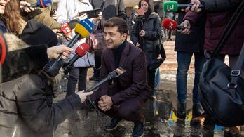 Máris a humorista áll a legjobban az ukrán elnökválasztáson