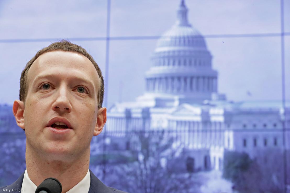 Mark Zuckerberg meghallgatása a Cambridge Analytica botrány miatt, a Capitol Hill-ben 2018. április 11-én
