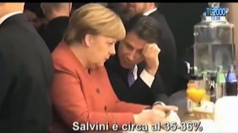 Kifülelték, miről beszélt Merkel és Conte a bárpultnál