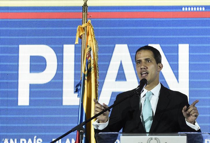 Juan Guaido ismerteti a kormányzási tervét a Venezuela Központi Egyetemben (UCV), Caracas-ban 2019. január 31-én