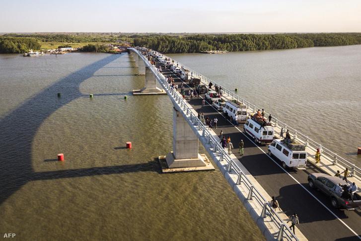 Szenegambia híd avatása 2019. január 21-én