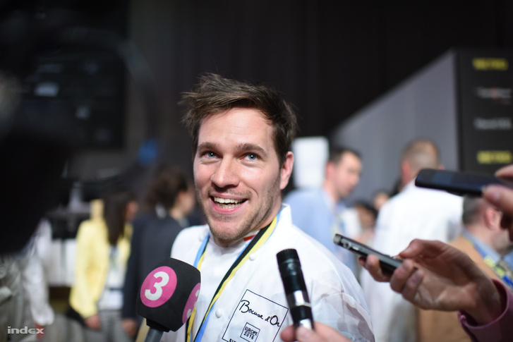 Széll Tamás 2016. május 11-én a Bocuse d'Or európai döntőjének nyerteseként nyilatkozik