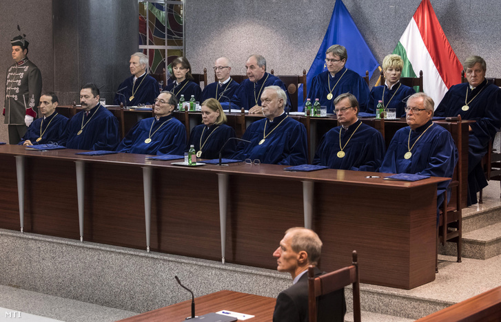 Justices in session at the Constitutional Court of Hungary