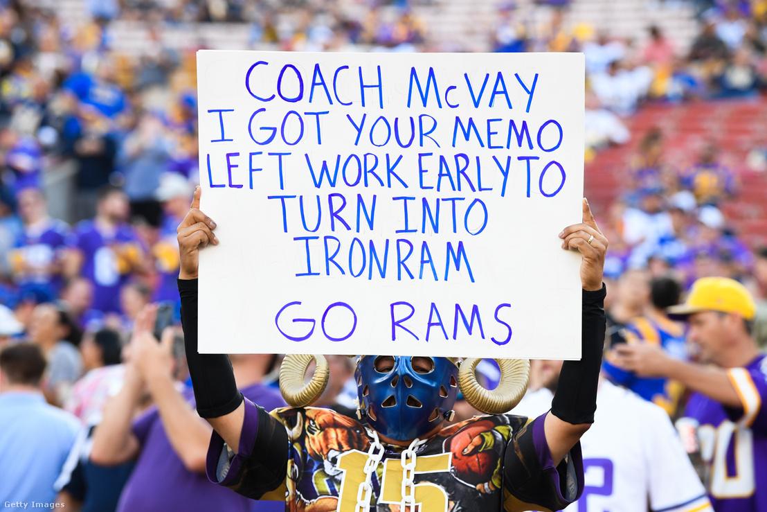 Egy igazi Rams- és McVay-drukker