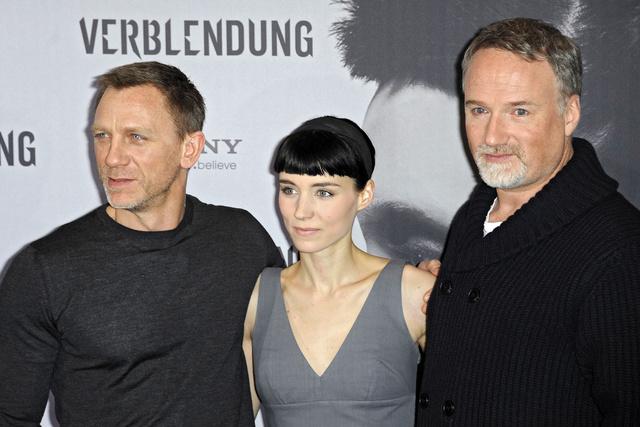 Daniel Craig, Rooney Mara és David Fincher