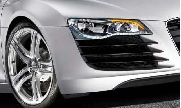 Az R8-as Audi led fényszórója.