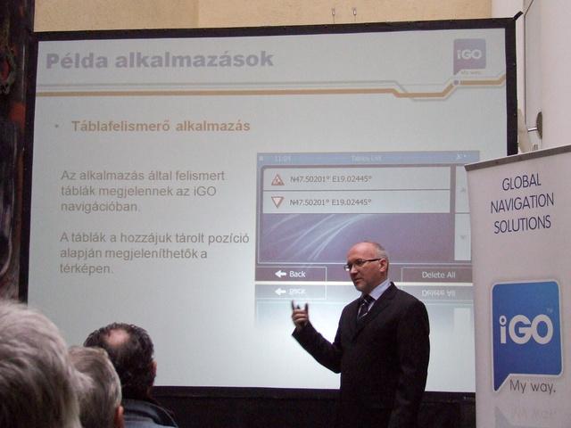 Medvig Attila egy lehetséges táblafelismerő alkalmazásról beszél