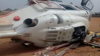 Lezuhant a nigériai elnökhelyettes helikoptere, de túlélte