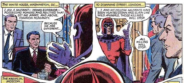 Magneto befenyíti Reagant (Uncanny X-Men #150, Chris Claremont & Dave Cockrum)
