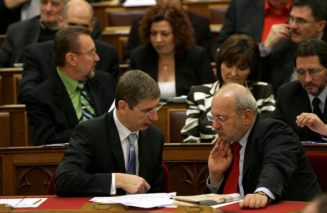 Eörsi és Gyurcsány, 2009-ben a parlamentben