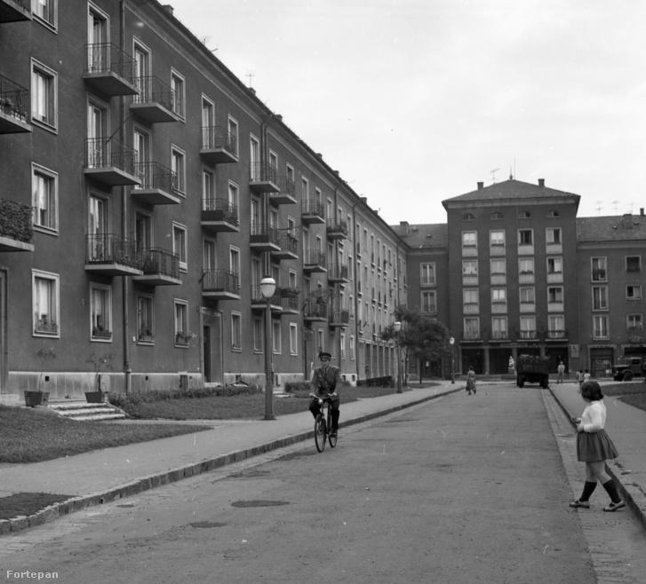 Szocreál lakótelep a mai Tomori közben, 1966-ban