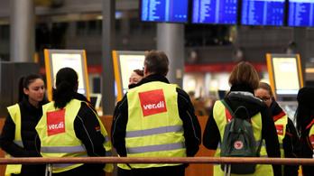 Több tucat járatot töröltek hamburgi reptéren sztrájk miatt