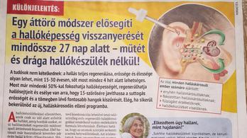 Durván túlárazott fülmosó a hallóképesség visszaadásával reklámozott csodaszer