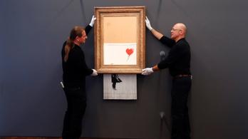 Kiállították Banksy félig ledarált festményét Németországban