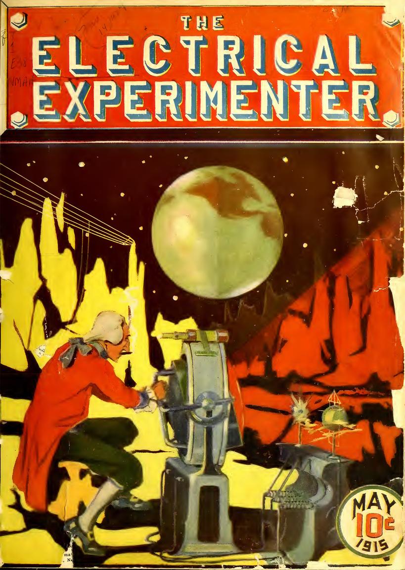 Gernsback saját tudományos-fantasztikus történeteit is közzétette a lapban, ezek főszereplője Münchhausen báró volt, aki különféle futurisztikus bonyodalomba keveredett kalandjai során. Az 1915. májusi szám borítóján a Holdon folytat elektromossággal kapcsolatos kísérleteket a szivarozó nemes. A háttérben a Hold hegyláncain elektromos vezetékek húzódnak, a vörös fényű reflektorral egy földi megfigyelőnek üzent a lapban közölt sztori szerint.