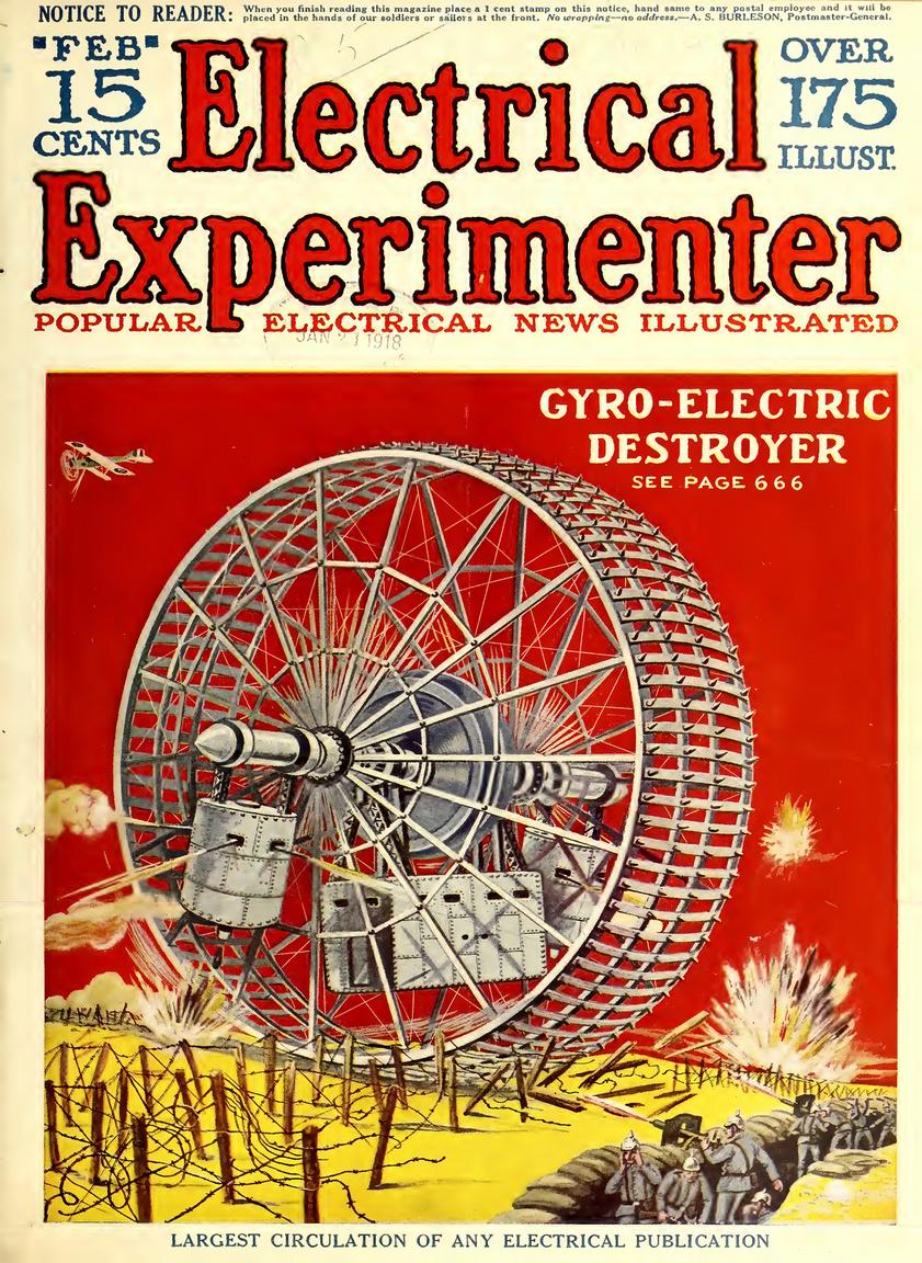 """1918. február: az """"electro-gyro-cruiser"""" után itt a """"gyro-electric-destroyer"""". (Nem, ez még nem a Genyó Szivó Disztroly, de majdnem.)"""
