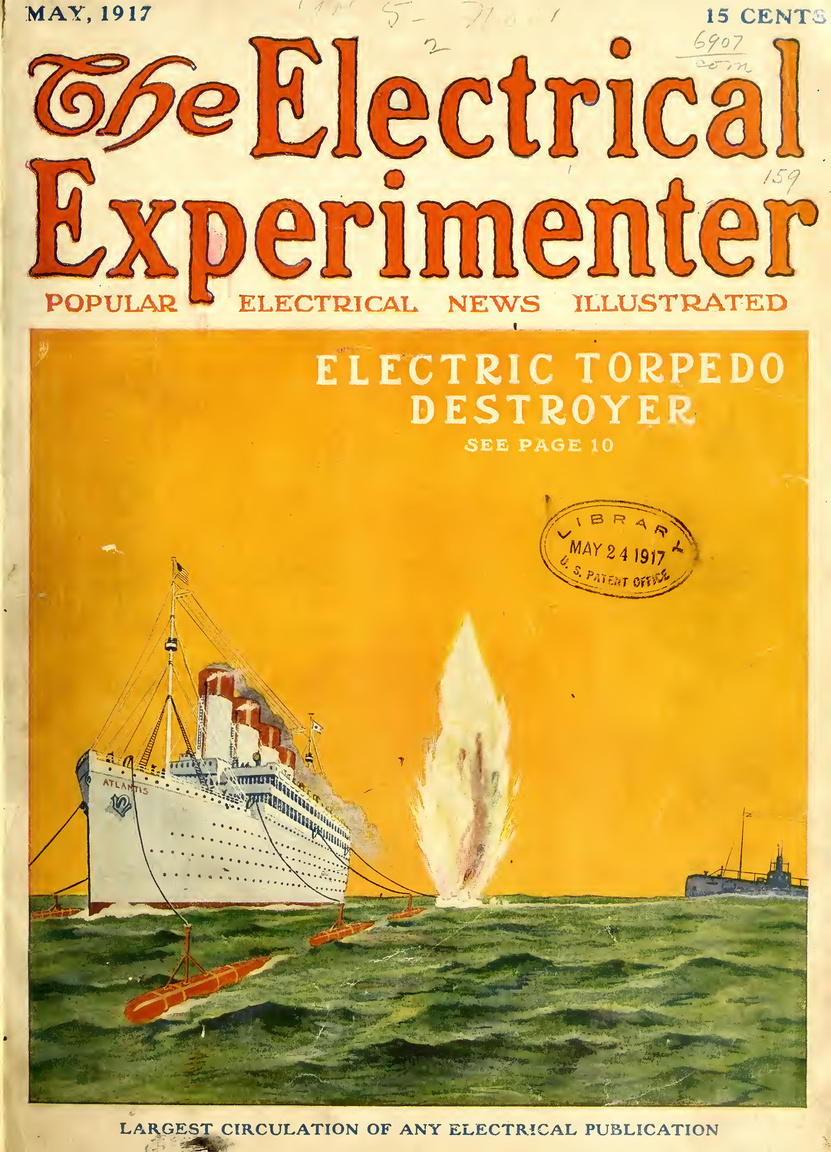 1917 májusában még javában dúlt az első világháború, szárazföldön, levegőben és tengeren egyaránt. Az utasszállító és kereskedelmi hajók elleni tengeralattjáró-támadások elhárítására Gernsback azt találta ki, hogy elektromos meghatású és vezérlésű torpedóelhárító torpedókat kellene a megvédendő hajók oldala mellett úsztatni. Amint egy ellenséges torpedó kilövését észleli a távcsöves őr, a jól kalkulálható pályája útjába eső elhárító torpedó felrobbantásával megóvhatja a hajót.