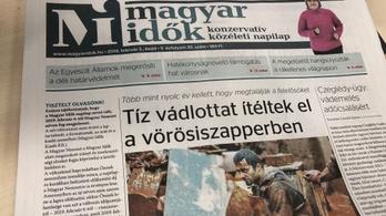 Már a címlapján hirdeti a Magyar Idők az ünnepi névváltását