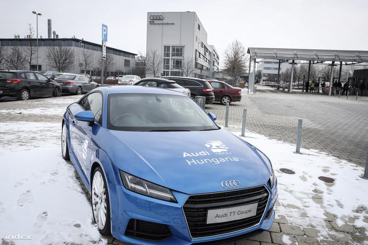 Győri Audi gyár a sztrájk idején 2019. január 25-én